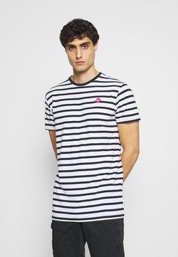 Kronstadt - Navey - T-shirt imprimé - navy white
