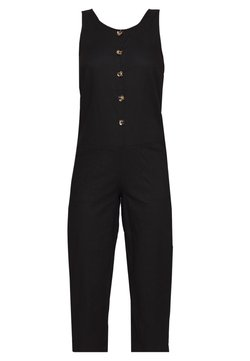 Missguided - BUTTON DETAIL RELAXED - Combinaison - black