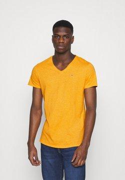 Tommy Jeans - SLIM JASPE V NECK - T-shirt basic - yellow