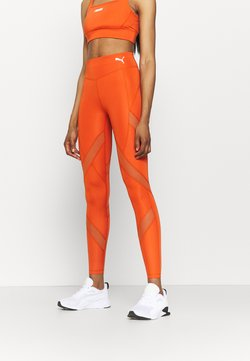 Puma - PAMELA REIF X PUMA MID WAIST LEGGINGS - Tights - burnt orchre