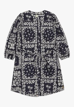 Scotch & Soda - CRISPY SHIRT DRESS WITH TIE - Blusenkleid - dark blue/white