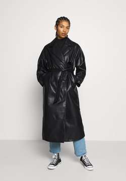 Monki - KYLIE COAT - Wollmantel/klassischer Mantel - black