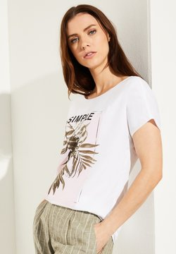 comma casual identity - MIT CHIFFON-LAYER - T-Shirt print - white placed print frame