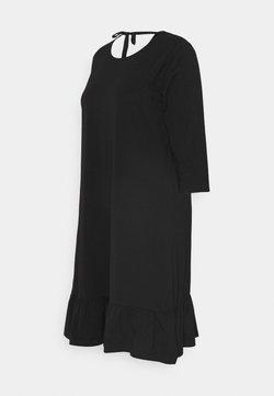 Mamalicious Curve - MLSASJA DRESS - Jerseykleid - black