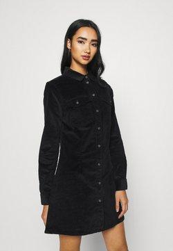 Noisy May - NMLISA BUTTON DRESS  - Kjole - black