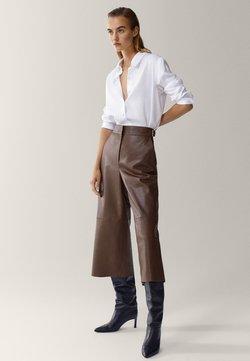 Massimo Dutti - MIT ZIERFALTE - Skjorta - white