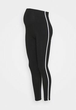 New Look Maternity - WHITE SIDE STRIPE - Leggings - black