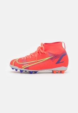 Nike Performance - MERCURIAL 8 ACADEMY AG UNISEX - Chaussures de foot à crampons - bright crimson/metallic silver