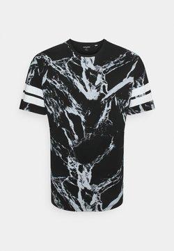 Jack & Jones - JCONEWANTHEM TEE CREW NECK - T-shirts med print - black