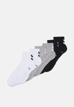 Hummel - CHEVRON MID CUT 6 PACK UNISEX - Sportsocken - white/black/grey melange