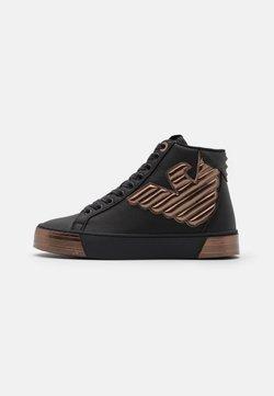 EA7 Emporio Armani - UNISEX - Sneaker high - black/bronze