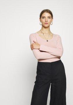 New Look - SCOOP NECK BODY - Langarmshirt - pale pink