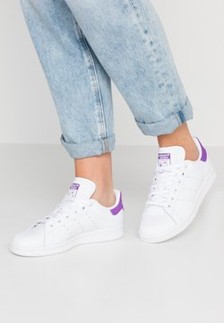 adidas Originals - STAN SMITH - Sneaker low - footwear white/active purple