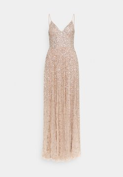 Maya Deluxe - ALL OVER SEQUIN DRESS - Vestido de fiesta - taupe blush