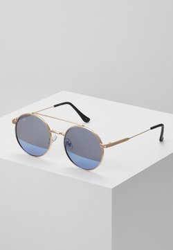 Jeepers Peepers - Gafas de sol - gold-coloured/blue flash lens