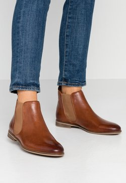 Anna Field - LEATHER BOOTIES - Nilkkurit - cognac