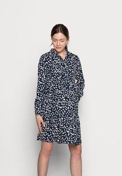 MAMALICIOUS - MLGLOMMA SHIRT DRESS - Skjortekjole - navy blazer/snow white