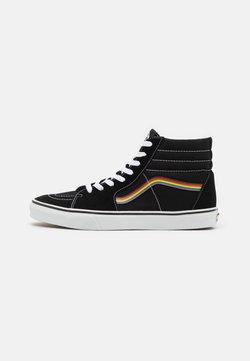 Vans - SK8-HI PRIDE UNISEX  - Korkeavartiset tennarit - black/multicolor/true white