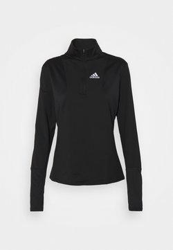adidas Performance - 1/2 ZIP - Bluzka z długim rękawem - black