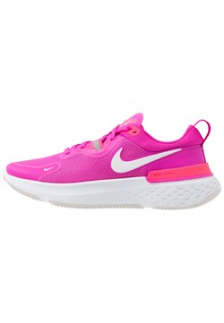 Nike Performance - REACT MILER - Zapatillas de running neutras - fire pink/white/team orange/vast grey