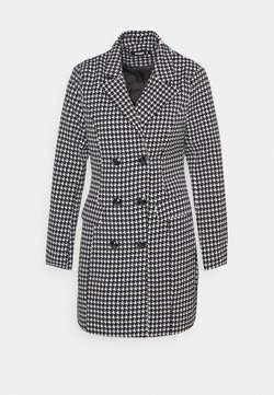 Missguided - DOUBLE BREASTED DOGTOOTH  - Abrigo corto - black