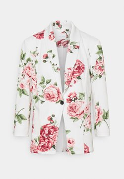 Vila - VISALU  - Blazer - snow white/pink/green flowers