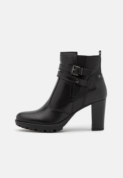 Anna Field - LEATHER - Plateaustiefelette - black