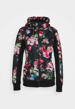 Roxy - FROST PRINTED - Fleecejacke - true black/multicolor