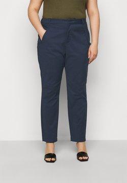 Vero Moda Curve - VMVICTORIA ANTIFIT ANKLE PANTS - Pantalon classique - navy blazer