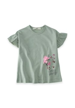 Cigit - CHOOSE HAPPY  - T-Shirt print - metallic green