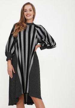 Madam-T - Freizeitkleid - grau, schwarz