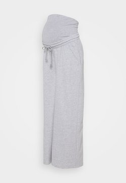 Missguided Maternity - MATERNITY SUPER WIDE LEG JOGGER - Jogginghose - grey marl