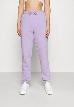 Monki - KARDI CUFF TROUSERS - Jogginghose - lilac purple medium dusty