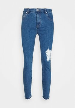 Mennace - RIPPED  - Jeansy Skinny Fit - mid blue