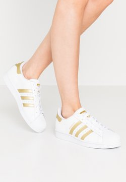 adidas Originals - SUPERSTAR - Sneakers laag - footwear white/gold metallic