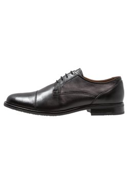 Pier One - LEATHER - Zapatos con cordones - black