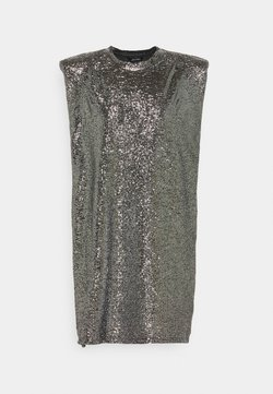 Monki - ALVINA BLING DRESS - Cocktail dress / Party dress - silver / black
