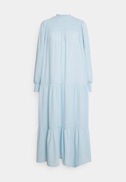 Glamorous - SMOCKED HIGHNECK MAXI DRESSES WITH LONG SLEEVES - Maxikjole - blue