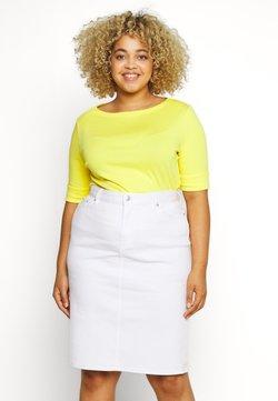 Lauren Ralph Lauren Woman - JUDY ELBOW SLEEVE - T-shirts - hampton yellow