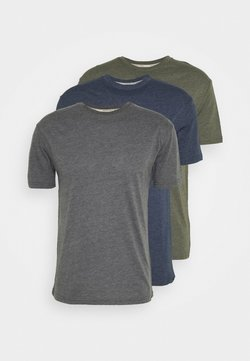 Newport Bay Sailing Club - MULTI TEE AUTUMN 3 PACK - Basic T-shirt - oliv/dark blue/dark gray mel