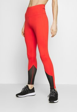 Wolf & Whistle - EXCLUSIVE LEGGINGS WITH PANELS - Trikoot - red