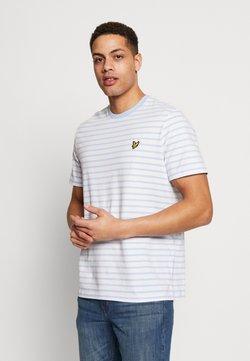 Lyle & Scott - BRETON STRIPE  - T-Shirt print - pool blue/ white