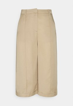 Vero Moda Tall - VMVIVIANA  PINTUCK LONG - Pantaloni - tan