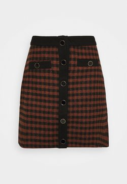Fashion Union - JOHNNY SKIRT - Minirock - camel check