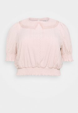 Forever New Curve - MYLA COLLARED BRODERIE - T-shirt con stampa - blush