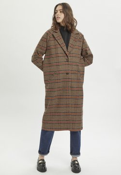 My Essential Wardrobe - IBEN  - Klasyczny płaszcz - total eclipse checkered