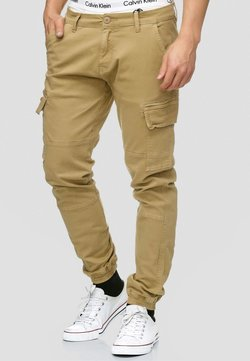 INDICODE JEANS - AUGUST - Cargohose - light brown