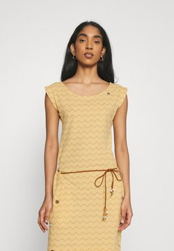 Ragwear - TAG CHEVRON - Vestido ligero - yellow