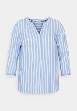MY TRUE ME TOM TAILOR - BLOUSE STRIPED - Langarmshirt - blue/white