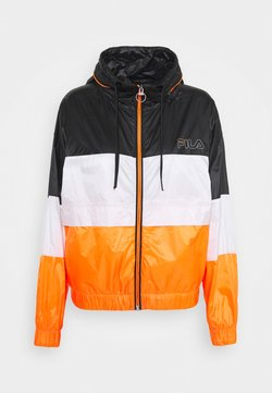 Fila - ALBERTA WIND JACKET - Verryttelytakki - black iris/bright white/orange clown fish